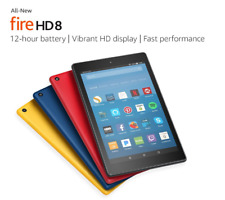 Amazon Fire HD 8 (8th Generation) 16 GB, Wi-Fi, 8 in - Canary Yellow (with Special Offers)