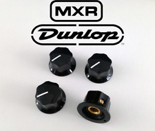 4x Genuine Dunlop MXR Knobs for Pedal or guitar - Black - with set screw
