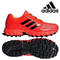 adidas Lux Pro Field Hockey Junior Shoes Kids Boys Girls Red Black Trainers