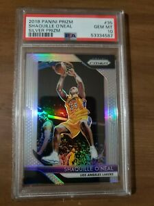2018/19 Panini Prizm #35 Shaquille O'Neal Silver Prizm PSA 10 GEM MINT  Lakers