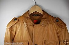 SUPER BEAUTIFUL !!!  HUGO BOSS MEN LAMB LEATHER  BIKER JACKET  EU 50 US 40R