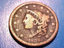 US Coins SCARCE 1838 Good Coronet Head Large Cent Copper Penny G141