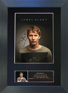 JAMES BLUNT Signed Mounted Reproduction Autograph Photo Prints A4 397