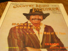 Marty Robbins Covers Country Music Inquirer Magazine January 1985 Del Wood
