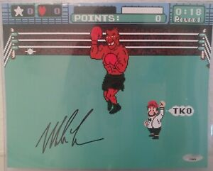 """MIKE TYSON Signed Autographed 8X10  """"PUNCH-OUT"""" Photo TriStar COA"""