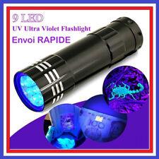 Mini lampe torche en aluminium UV Ultravlolet 9 LED