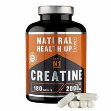 Creatina monohidratada para aumentar la masa muscular y el (180 Capsulas)