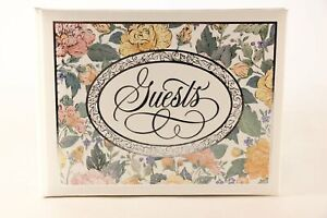NEW!!! Old Hallmark Stock 25th Anniversary Guest Book. AAL7637. Made In U.S.A.