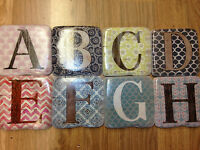 Ceramic Coasters Stone Resin Alphabet Coffee Tea Drink Glass Shabby Chic Gifts