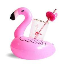 X1 Inflatable Flamingo Float Water Bottle Drink Cup Holder Beverage Boat Pool  @