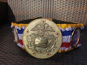 Ring Magazine VINTAGE HEAVY WEIGHT-Custom Made Boxing Belt- WBC WBA IBF WBO