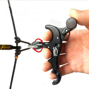 AU Release Aids Trigger 4 Finger Adjustable Auto Hunting Compound Bow Archery