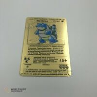 Carte Pokemon Gold Tortank / Blastoise Metal Card Fan Made / EX GX
