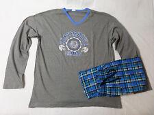 Herren Pyjama Schlafanzug lang mit Flanellhose Nachtwäsche M - XXL *N046