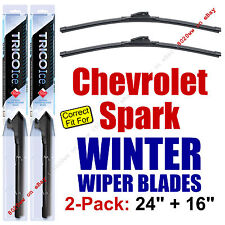 WINTER Wiper Blades 2-Pk Premium - fit 2013-2015 Chevy Chevrolet Spark 35240/160