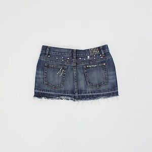 Warehouse Womens Size 10 Blue Denim Short Mini Skirt