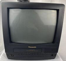 """Panasonic 4 Head Omnivision 13"""" TV/VCR Combo VHS FM Radio PV-M1369 w/ Remote"""