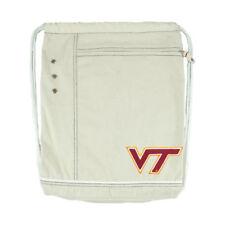 NEW Little Earth Virginia Tech Hokies Natural Old-School Cinch Bag