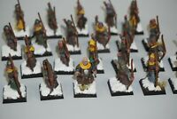 Warhammer Fantasy Bretonnian Archers Bowmen x 23 - LOT 190 - Painted & Based