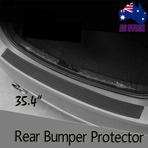 Car Rear Trunk Sill Bumper Guard Protector Rubber Pad Cover Strip 90cm Universal