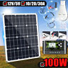 100W 18V Solar Panel USB Battery Power Charger + 10/20/30A PWM Solar Controller