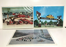 3 Vintage Indy 500 Postcards Excellent condition.