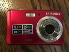 Samsung L Series L830 8MP Digital Camera Red - Untested - No Battery No Charger