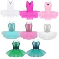 Girls Kids Ballet Dance Dress Gymnastics Leotard Mermaid TUTU Party Costume