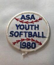 Vintage ASA Youth Softball 1980 Softball USA G