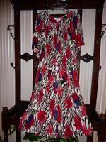 NWT GO SOFTLY WASHABLE CRINKLED RAYON MUU HOUSE DRESS BTN FRNT ANIMAL FLORAL XL
