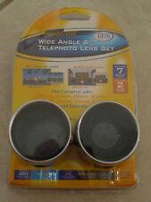 Digital Concepts Digital Camera Video Wide Angle & Telephoto Lens Set Kit-1337R