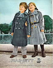 PUBLICITE  1970   RAINETT  vetements manteaux enfants pret  à porter