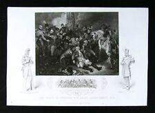 1852 Tallis Print - Death of General Abercromby at Battle of Alexandria Napoleon