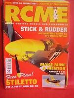 "RCM&E OCTOBER 2005 MODEL AIRCRAFT STILETTO PLANS 60"" SPAN MARTIN BELL T34 MENTOR"