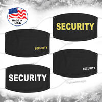 Black Face Mask SECURITY -Washable and Reusable Fabric-made in USA / free ship