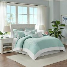 HARBOR HOUSE COASTLINE BLUE 3PC SET, 1 FULL QUEEN DUVET COVER, 2 STANDARD SHAMS