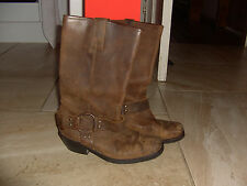 women's brown  suede  pull on  boots size 4