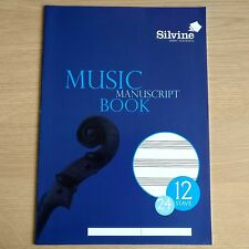 NEW - A4 MUSIC MANUSCRIPT BOOK - A4 Exercise Notebook - 12 Stave 24 Page