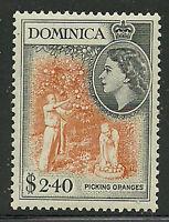 Album Treasures Dominica Scott # 156  $2.40 Elizabeth Picking Oranges MVLH