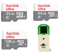 SanDisk Ultra 32GB 64GB 128GB Micro SD Memory Card Class10 w/ Adapter and Reader