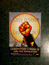 RED FACTION II PLAYSTATION 2 JOIN THE REVOLUTION carte postale postcard