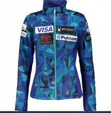 Spyder Blue Patterned Outdoor Ski Jacket Size Large US Team Branded Motifs