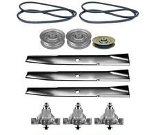 "Mower Deck Rebuild Kit fits 46""Sears Craftsman GT3000 Blades Pulleys Belts (116)"