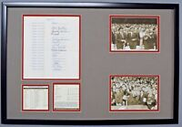 JOHN F KENNEDY+LINCOLN SIGNED AUTO AUTOGRAPH59 WORLD SERIES BETTING DOC PSA/DNA
