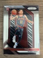 Trae Young Prizm Rookie Card! CLEAN GRADEABLE! Possible PSA 10!