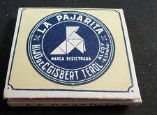 ANTIQUE CIGARETTE ROLLING PAPER LA PAJARITA EARLY 1900 TOBACCIANA COLLECTIBLE 16