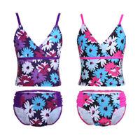 Kids Baby Girls Two Piece Tankini Bikini Set Swimwear Swimsuit Bathing Suit
