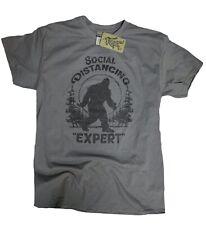 Social Distancing Sasquatch Bigfoot Champion Expert Funny Yeti T Shirt pandemic