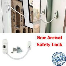 Baby Safety Guard Window Wire Lock Restrictor Door Security Chain Catch Cable