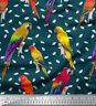 Soimoi Fabric Macaw Parrot Bird Printed Craft Fabric by the Yard - BRD-535D